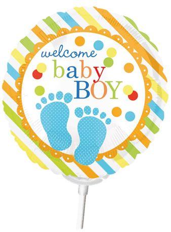 Miniballon auf Stab Geburt Junge
