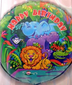 Folienballon Dschungel1