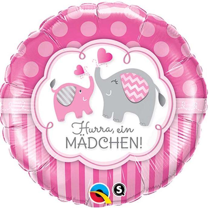 Folienballon Hurra ein Mädchen