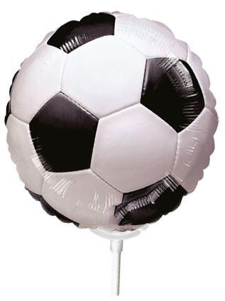 Miniballon auf Stab Fussball