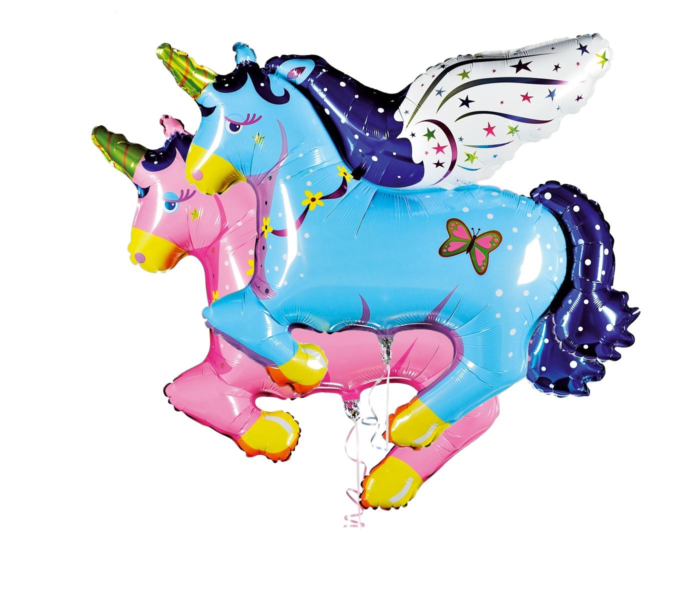 Folienballon Pegasus blau od. rosa
