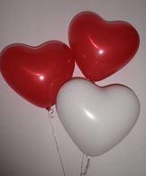 Herzballon 32 cm x 32 cm - 100 Stück