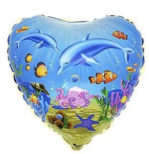 Folienballon Unterwasserwelt Herz