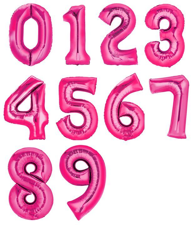 Folienzahlen, XXL, pink 0 - 9