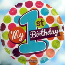 Folienballons My 1st Birthday
