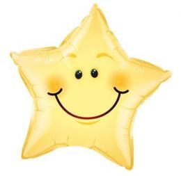 Folienballon Smiley Stern