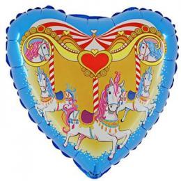 Folienballon Pferdekarussell