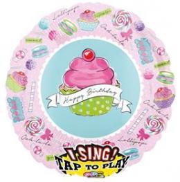 Singender Ballon Cupcake