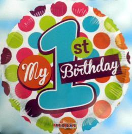 Folienballon My 1st Birthday