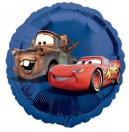 Folienballon Cars Blau