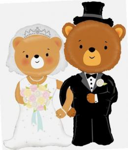 Folienballon Braut&Bräutigam Teddy