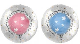 "Folienballon ""Größte Glück"" rosa od. blau"