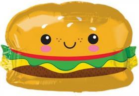 Folienballon Hamburger