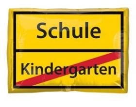 Folienballon Kindergarten/Schule