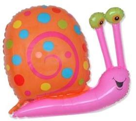 Folienballon Schnecke pink
