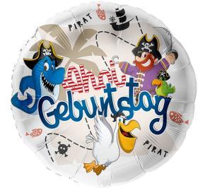 Folienballon Ahoi Pirat