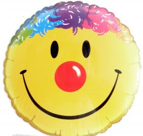 Folienballon Smiley Clown