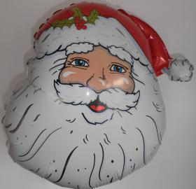 Folienballon Weihnachtsmann Kopf