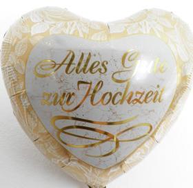 Folienballon Alles Gute z. Hochzeit