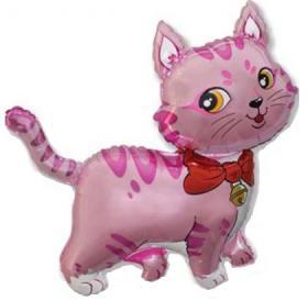 Folienballon Katze Pink