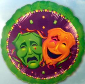 Folienballon Masken