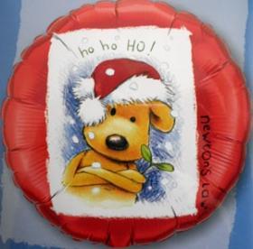 Folienballon Hund ho-ho-ho