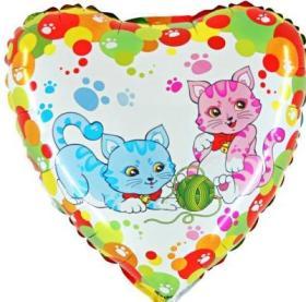 Folienballon Spielende Katzen