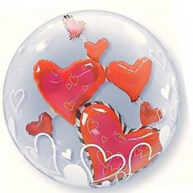 DoubleBubble Rote Herzen