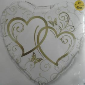 Folienballon Goldene Herzen