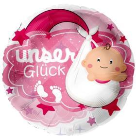 Folienballon, Unser Glück rosa