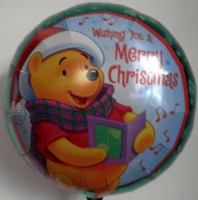 Folienballon Winnie Pooh Merry Christmas