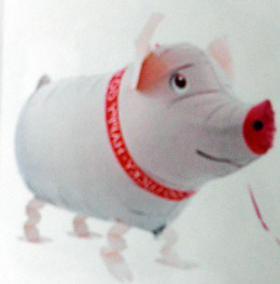 Folienballon Airwalker Glücksschwein