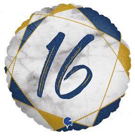 Folienballon 16 blau