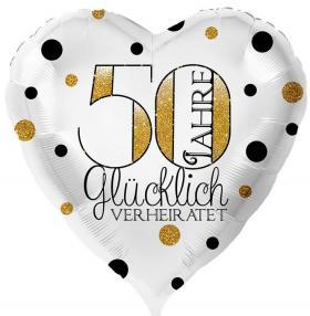 Folienballon Goldhochzeit 50 Jahre Glücklich