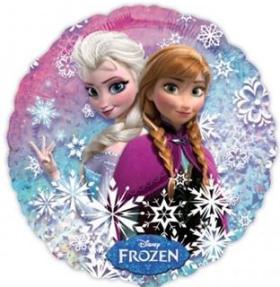 Folienballon Frozen Princess Schneeflocken