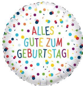 Folienballon Alles Gute Konfetti