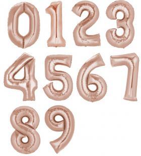 Folienzahlen, XXL, roségold 0-9
