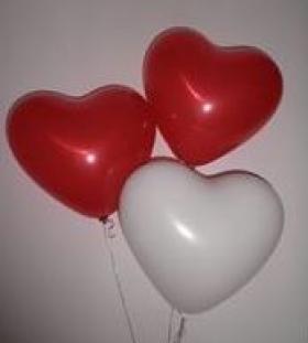 Herzballon 40 cm x 40 cm - 100 Stück