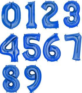 Folienzahlen, XXL, blau 0 - 9