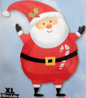 Folienballon Weihnachtsmann Wichtel