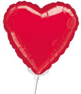 Miniballon auf Stab Herz