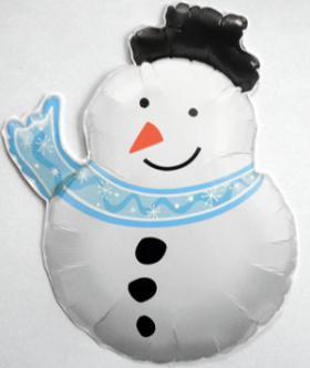 Folienballon Schneemann