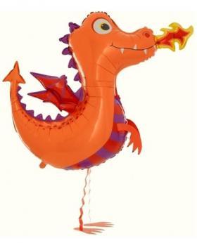 Folienballon Lustiger Drache Airwalker