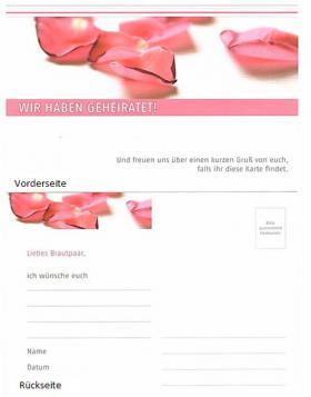 Ballonflugkarte Rosenblütenblätter
