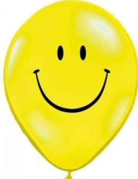 Rundballon Smiley