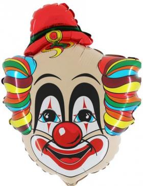 Folienballon Clown Kopf Rudi