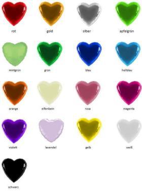 Folienballon Herz neutral vers. Farben