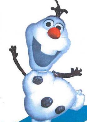 Folienballon Olaf Figur