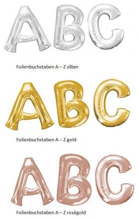 Folienbuchstaben, ca. 90 cm, silber, gold, roségold